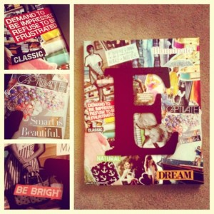 Canvas collage DIY Dorm