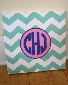 Monogram Painted Canvas Dorm